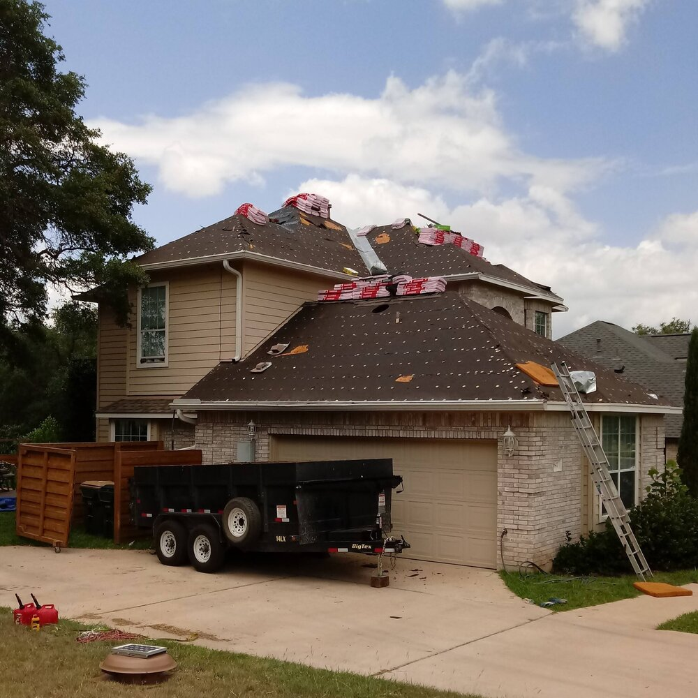 Residential home with shingle roof