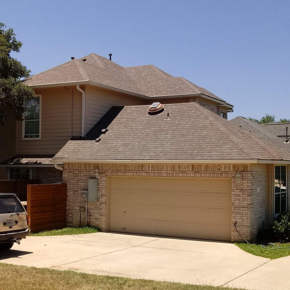 Residential roofing - brown home