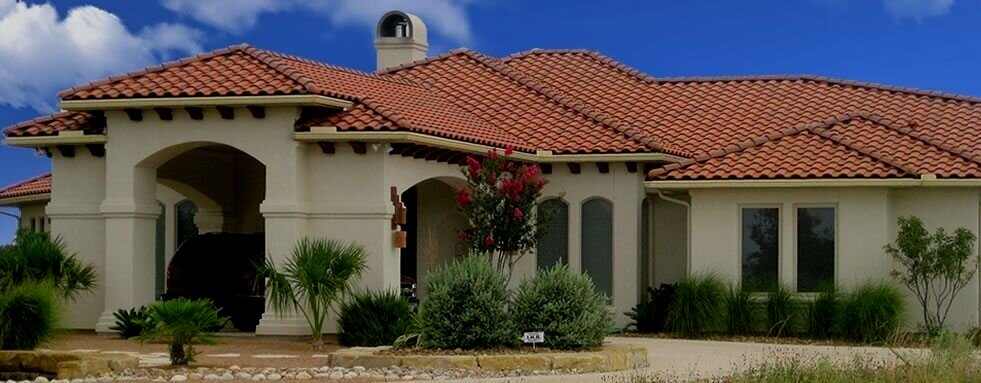 Tile roofing on home